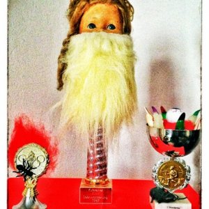 Trophies Bearded Lady Supreme - Best Costume Finger Lickin' Good - Most Creative Gut Wrenching - Funniest