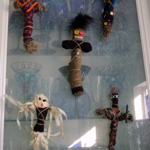 voodoo dolls (I originally made them for our Voodoo on the Bayou party)
