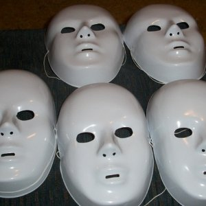 008   we used these masks in the ghost room.  I would like to decorate a couple of them.  one I would like to have crying black tears.