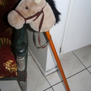 yard sale pony for hitching post $4