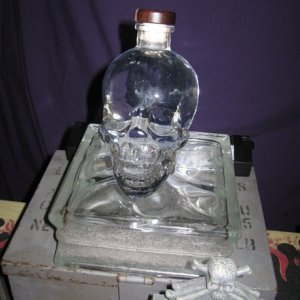 Glass skull bottle I got in one of the summer mini secret reapers