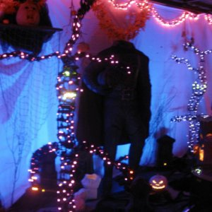 My only pic from Halloween of my HH setup >< ...and its blurry /sobs