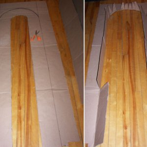 Cardboard lined and cut .The last photo is the added cut cardboard for the fake bricks .