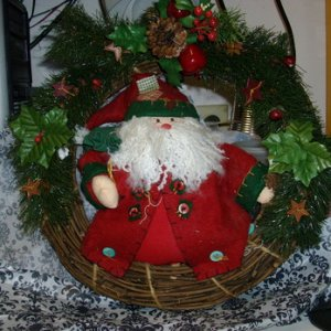 A very nice Santa wreath