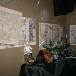 Maps over a witches workbench.