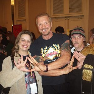 Diamond Dallas Page and me and Chris.  Diamond is a very cool and energetic dude!  He told us some cool stories.  I would love to hang out with him an