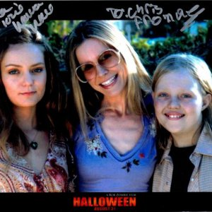 Rob Zombie's Halloween - autographed by Hanna Hall (Judith Myers) and Daeg Faerch (Young Michael Myers).  Hanna was SOOO nice!!  Met them at Fear Fest