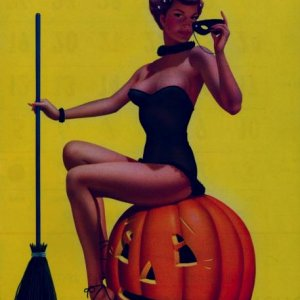 Bill Layne's pinup witch (1966)
