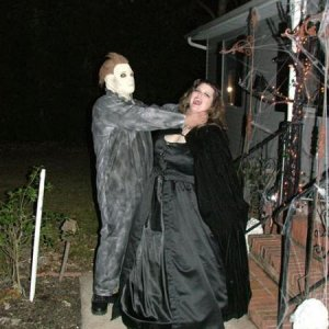 paul as michael myers and monica