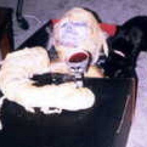 th psychoralph  Ralph is a half mummy I left room in the coffin for a fog machine The cat is real that psycho kitty