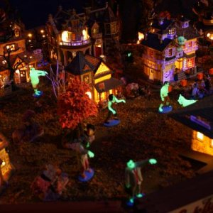 The glow-in-the-dark zombies are on the move