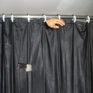 Bathroom shower - simple and sometimes people didn't notice the hand until they got to the spider toilet!