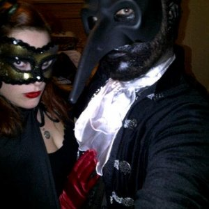 "2011, Masquerade themed party titled ""A Night In Hell House"" my character was a black raven."
