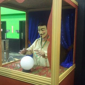 My first Zoltar booth built from scraps.