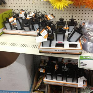 DOLLAR TREE, 2014. The black tea light lanterns finally came in. Not available in all stores.