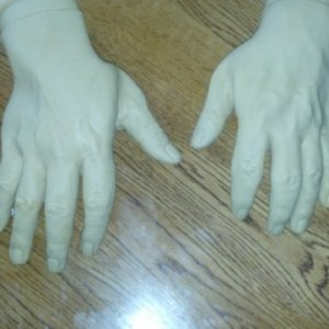 New zombie hands ready for painting
