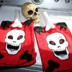 LCC Rummage Sale - tot bags and skull