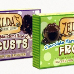 Zeldas, 2014. These chocolate covered marshmallow Locust and Frogs are made for Passover (plagues in Egypt) but I love for Halloween treats. Zelda's i