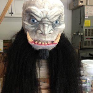 Krampus mask: before his horns