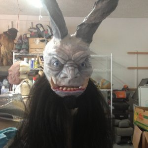 Krampus with his horns