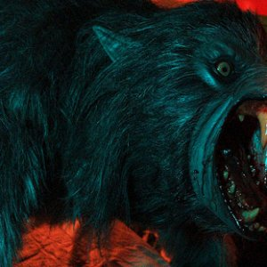 The werewolf with a blue light on it