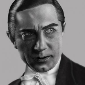 LugosiFinal  Horror legend Bela Lugosi (digital painting)