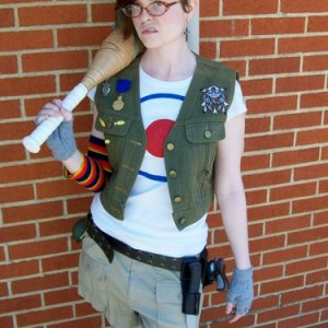 Tank Girl. Mostly thrifted or dollar store altered items.
