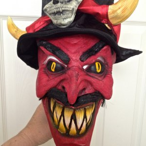BuyCostumes, 2014. Underworld Ringmaster Midnight Carnival costume mask. Comes with costume. Mfgr PMG Halloween.