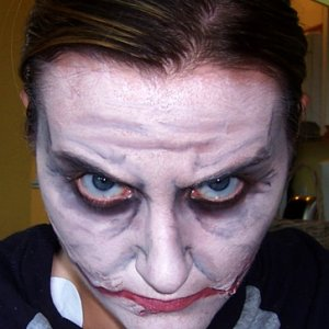 Me playing around with the new style Joker makeup.  Done in about 20 minutes, just a quick test.