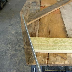 You must make sure that the cross braces gives you enough clearance for the sides when you close it. If too long, cut off with a hand saw.