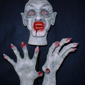 Vampire head and hands 11