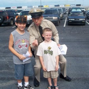 Ben and alex with Barney Fife lookalike at Dukefest 2008
