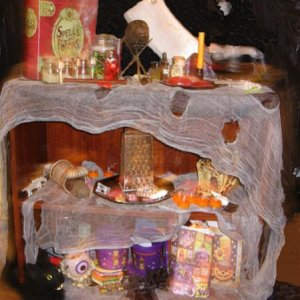 First year to do a witches cupboard.  Little blurry