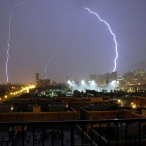 August 4th storm - this was taken by my friend in the city