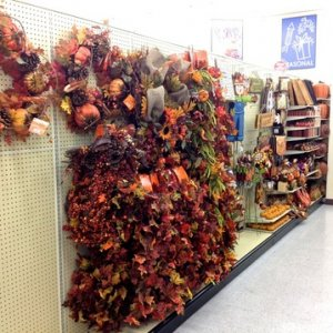 HobbyLobby, 2014. My stores Fall beginnings.