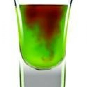 Werewolf's Bite  Werewolf's Bite Ingredients: 1 part Lucid absinthe 1 part Midori Liqueur Lemon-lime soda Pineapple juice Drizzle of grenadine  In a c