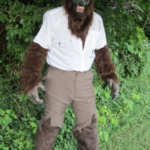 completed werewolf costume