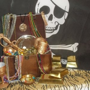 treasure chest is now ready for 2014  Halloween