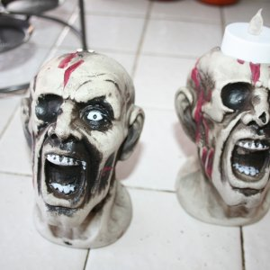 melted down top of zombie heads