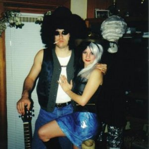 Me and the wife in 2000