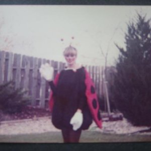 IMG 3827 Mom as Lady bug, she made costume  year 1985.