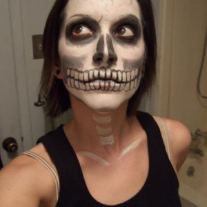Testing my skull face painting skills. Good skills to have.