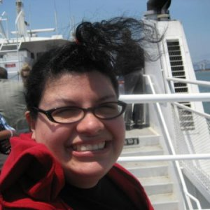 Me on the ferry, it was a windy day