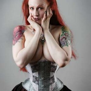 Photo By Steve Prue, NYC, corset by Exquisite Restraint