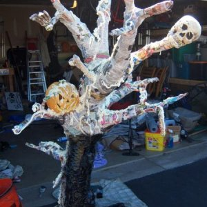spooky tree in progress