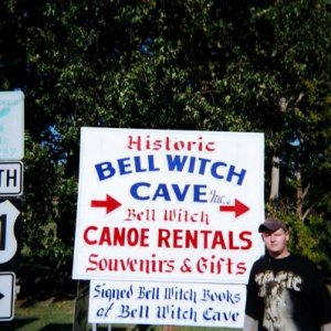 CHAD AT BELL WITCH CAVE! IN, ADAMS,TN.........