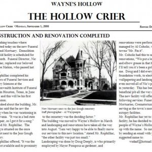 Tickler - HollowCrier Article - Intro/history of the location of the party...the Mortuary!
