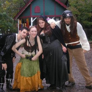 one of many trips to the Renaissance festival with my friends. I'm 2nd from the right.