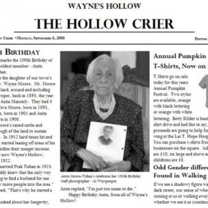 Tickler - HollowCrier Article - Oldest woman in town Anita Moore-Tishan.