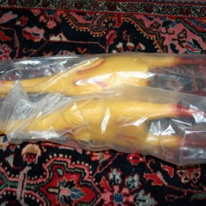 rubber chickens from neighbor